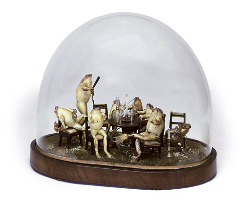 Frog diorama